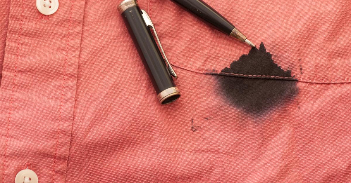 limpiar las manchas de tinta