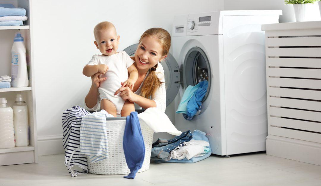 mantener la ropa de los niños limpia