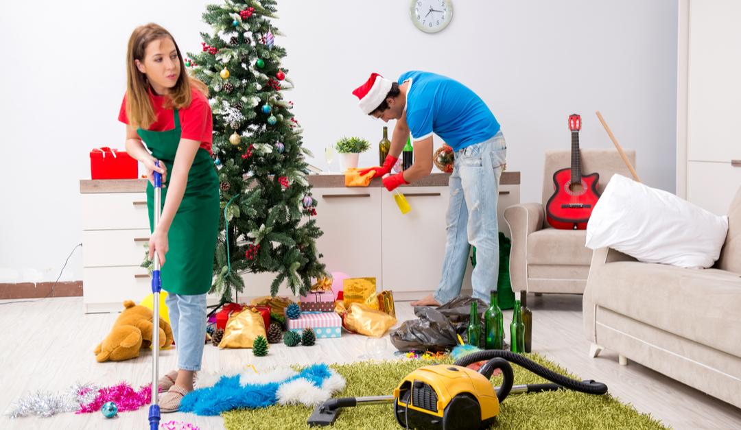 casa limpia para las fiestas