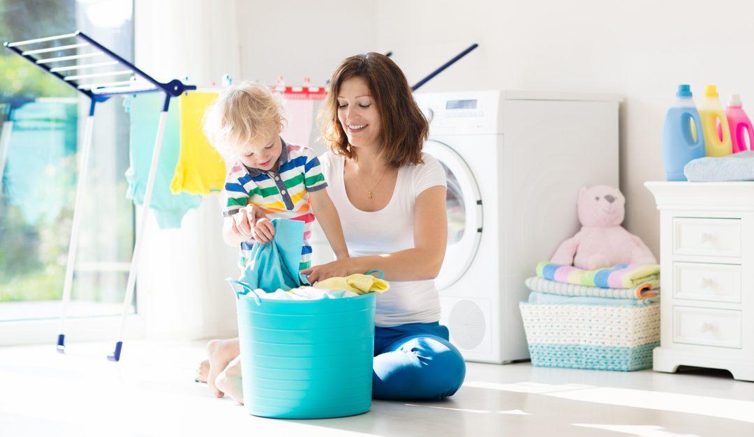 Ayudar a mamá a lavar la ropa